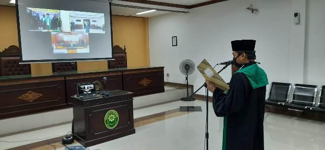 Pelantikan Hakim PA Nabire di PA Bangil Melalui Teleconfrence