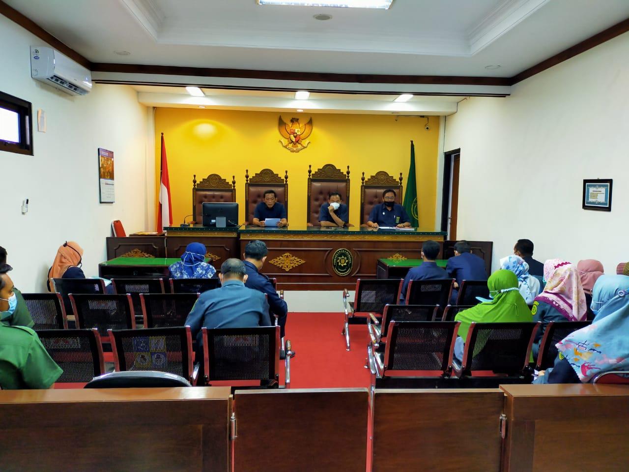 Pengadilan Agama Bangil Gelar Rapat Monitoring Evaluasi Periode Juni 2021