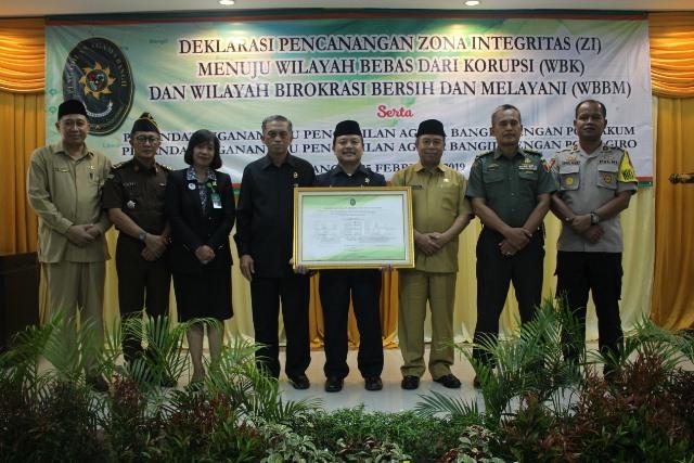Pencanangan Zona Intregritas (ZI) Pengadilan Agama Bangil menuju Wilayah Bebas Korupsi dan Wilayah Birokrasi Bersih dan Melayani